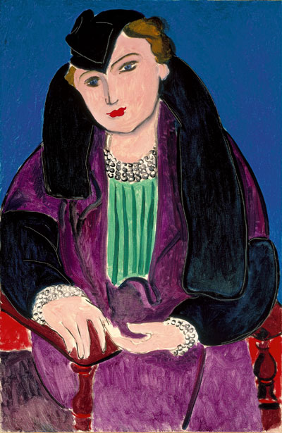 The Nahmad Collection - Matisse - Portrait au manteau bleu, 1935