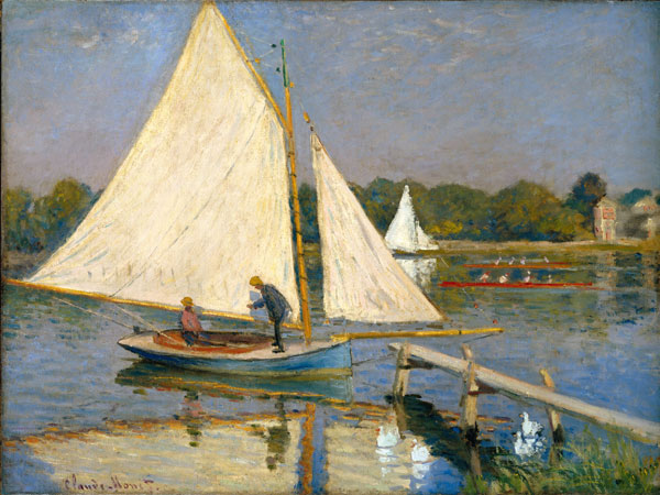 The Nahmad Collection - Monet - Canotiers a Argenteuil, 1874