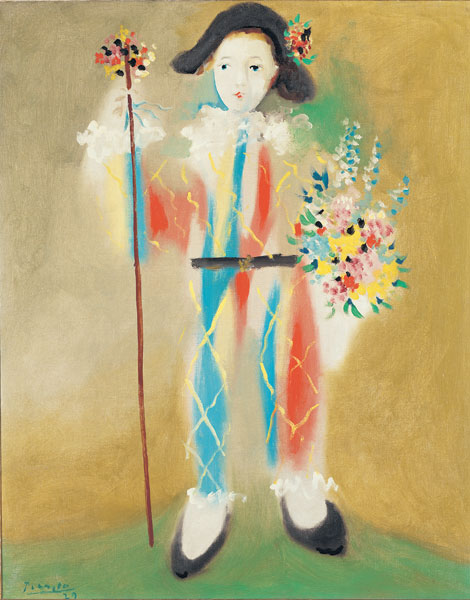 The Nahmad Collection - Picasso - Le petit pierrot aux fleurs, 1923/24