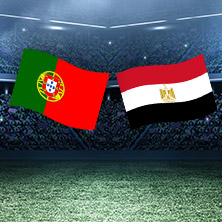 Fussball Freundschaftsspiel Portugal - Ägypten