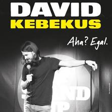 """David Kebekus """"Aha? Egal"""