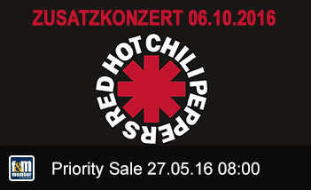Red Hot Chili Peppers Zusatzkonzert friends&members Priority Sale