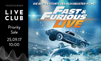 Fast & Furious Live - Live Club Priority Sale