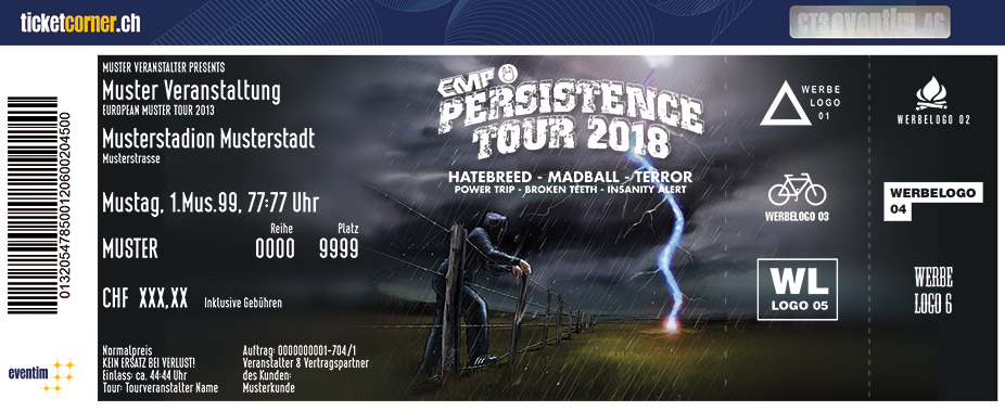 EMP PERSISTENCE TOUR 2018 - Tickets