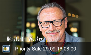 Konstantin Wecker friends&members Priority Sale